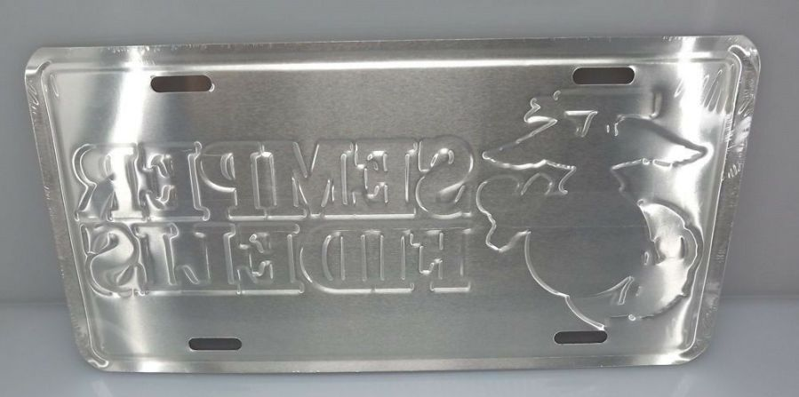 LICENSE PLATE USMC MARINE CORP STANDARD SIZE SEMPER FIDELIS BRAND NEW EMBOSSED 3