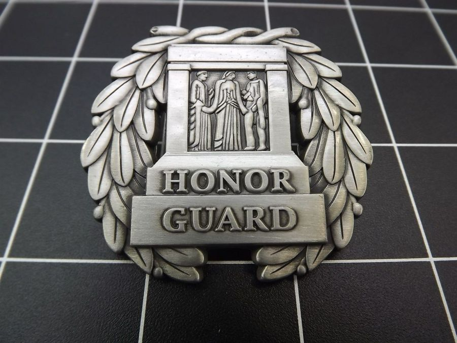 """NEW Lapel Pin """" HONOR GUARD"""" TOMB UNKNOWN SOLDER LIFETIME GUARANTEE PEWTER 1"""