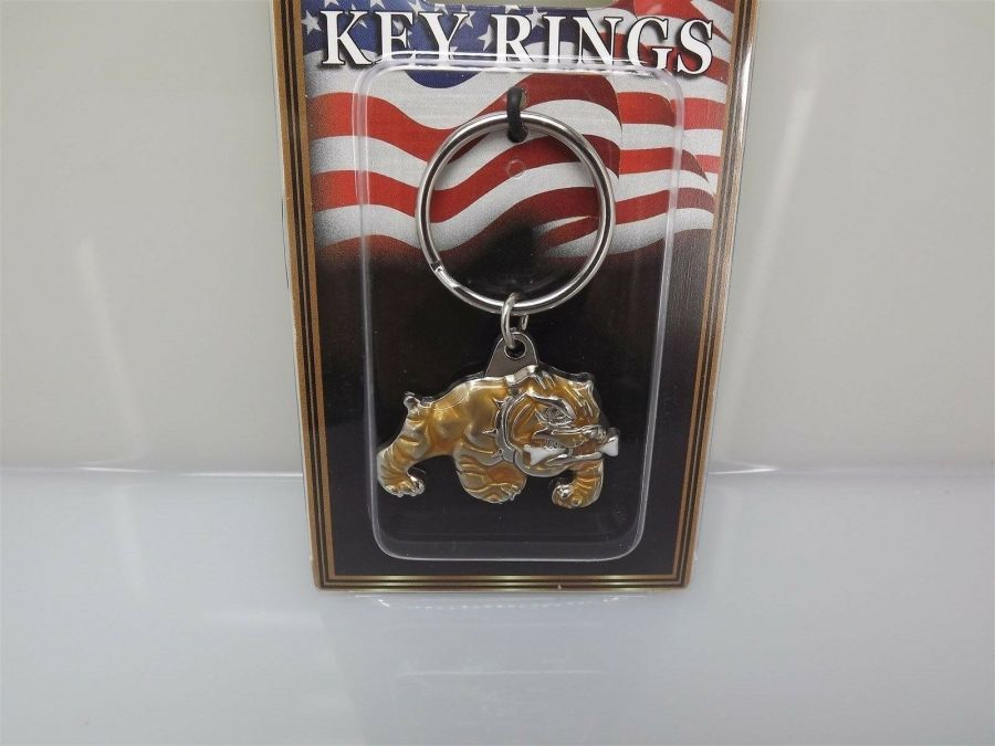 "PEWTER KEY RING KEYCHAIN NEW USMC MARINES ""BULL DOG"" MARINE CORP 3"