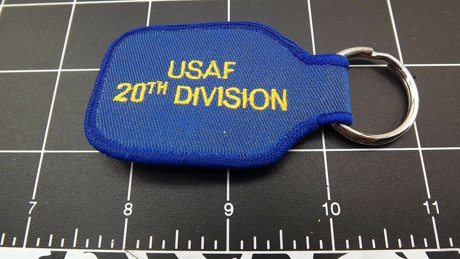 United States AIRFORCE USAF 20TH Division Embroidered Keychain 3