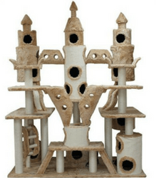 Best Cat Trees - A royal cat (and a rich hooman) deserves this incredible cat tree castle!