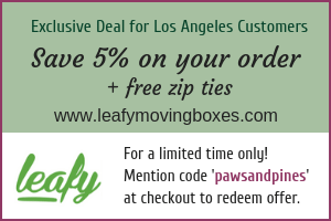 For Los Angeles customers, save 5% on your Leafy box rentals for a more eco-friendly and wallet-friendly move around town!