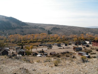 Bannack State Park view from the cemetery