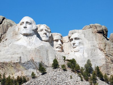 visiting Mount Rushmore South Dakota
