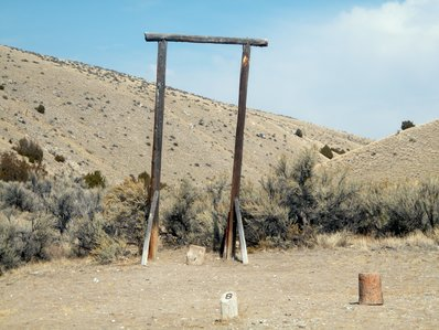 The gallows at Bannack State Park Montana