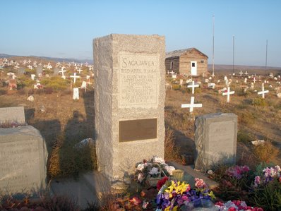 Sacajawea's grave in Fort Washakie