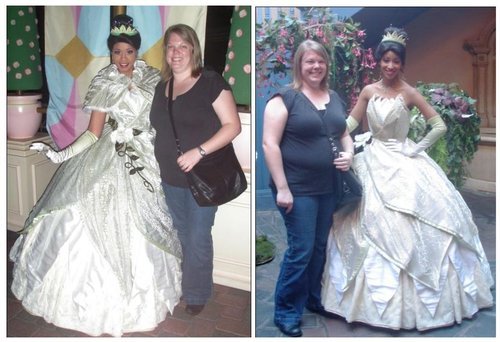 "It's like the double mint twins... ""Princess Tiana"" and me... once in the morning and once in the evening."