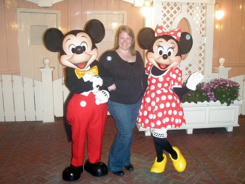 Mickey, Minnie, me and some orbs