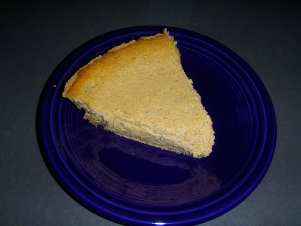 Pumpkin cheese cake made with beer