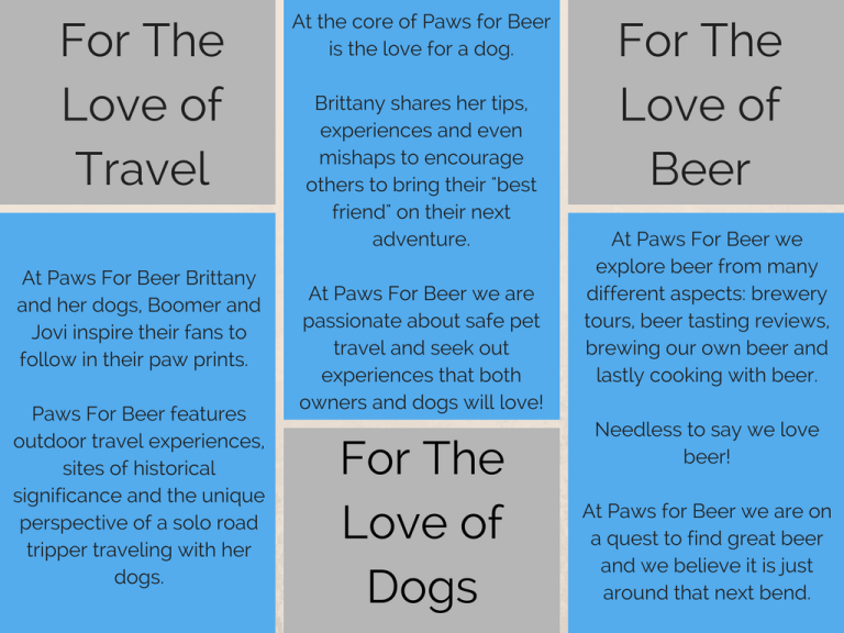Paws For Beer Media Kit
