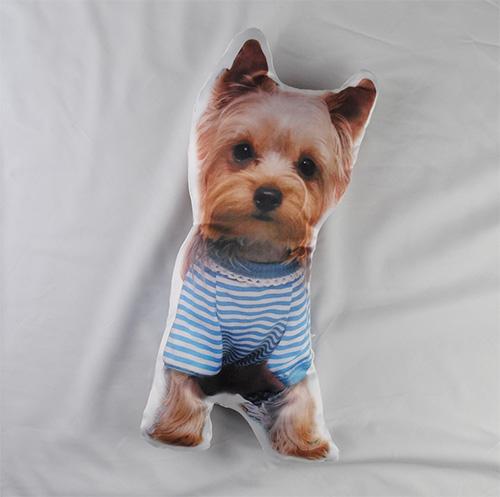 personalised dog shaped cushion