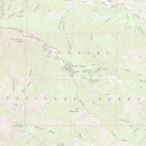 MtWilson-Topo map of running trails