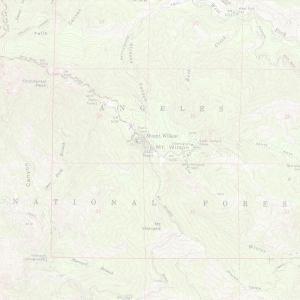 San Gabriel topo map background