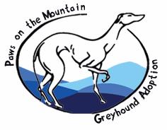 Paws on the Mountain Greyhound Adoption Logo