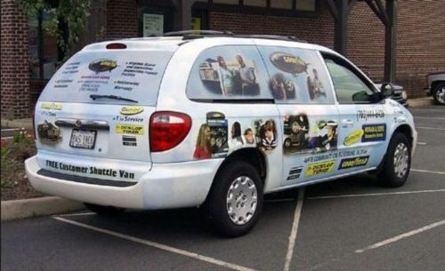 simple design is better design white van wrap