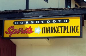 horsetooth spirits and market place lighted sign