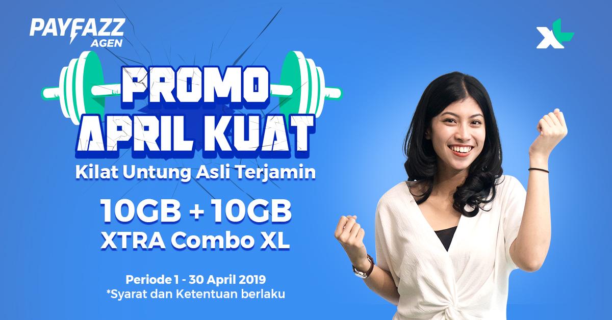 Promo April KUAT (Kilat Untung Asli Terjamin) XL XTRA Combo 10GB+10GB!