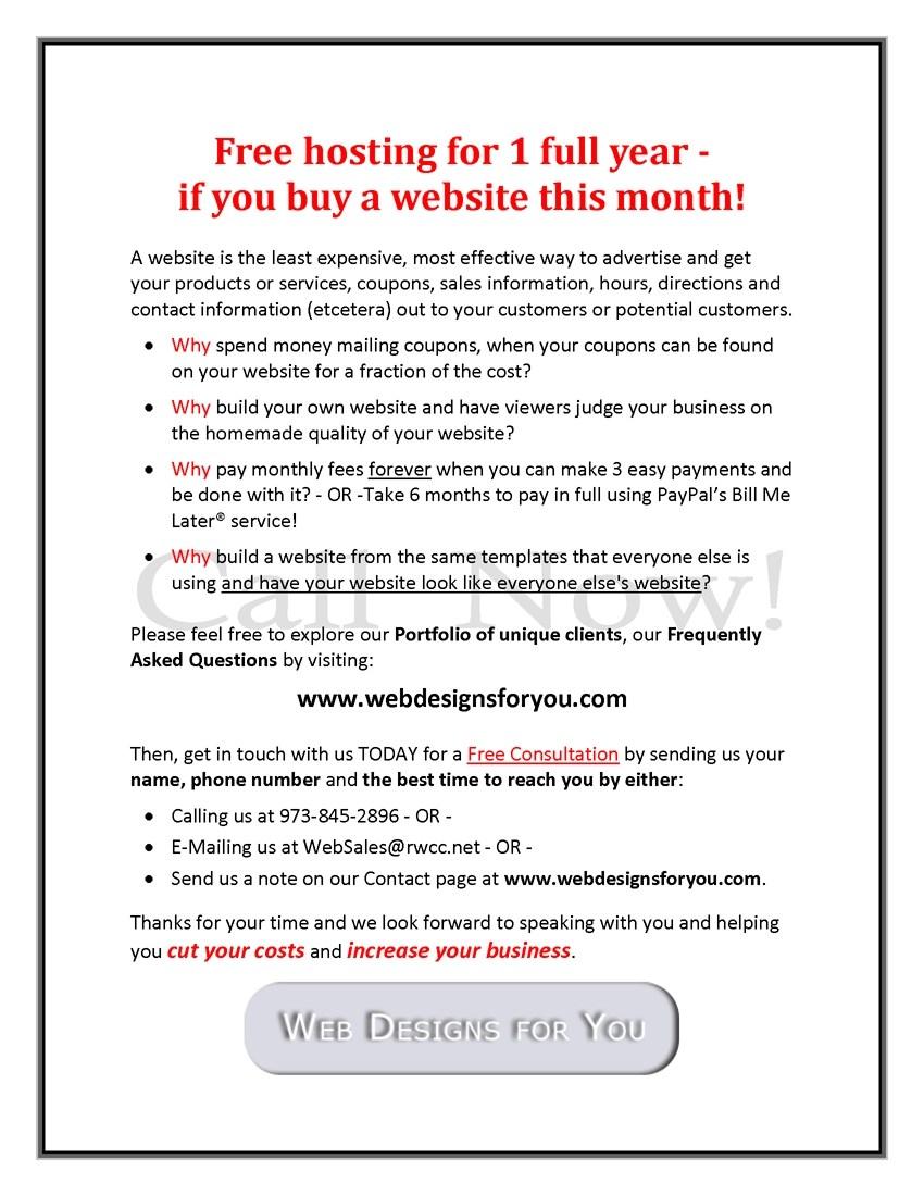 Web Designs for You Free Hosting