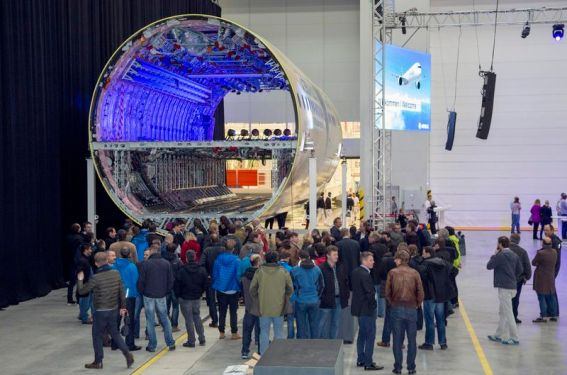 Airbus begins construction of first A350-1000 fuselage