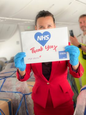 Virgin Atlantic set to deliver over 43 million items of personal protective equipment (PPE) and medical supplies to the UK from China