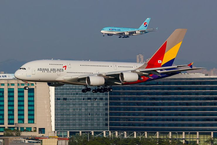 Korean Air and Asiana Airlines in ICN