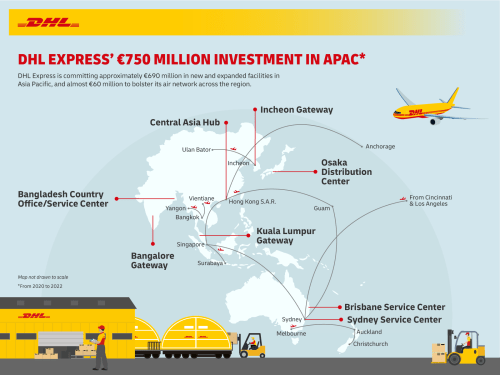 DHL Express outlines €750 million investment in Asia Pacific