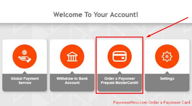 Order Payoneer Card 2018