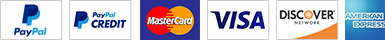 Pay withPayPal, PayPal Credit or any major credit card