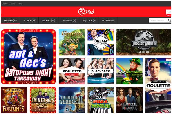 32 red casino games to enjoy