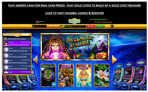 Chumba Casino to play PayPal slots in Canada