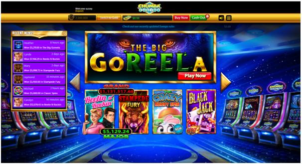 Games at Chumba Casino