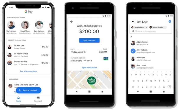 How does Google Pay work with paypal?
