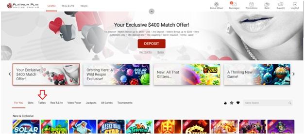 Platinum Play Online Casino Canada Exclusive Bonus
