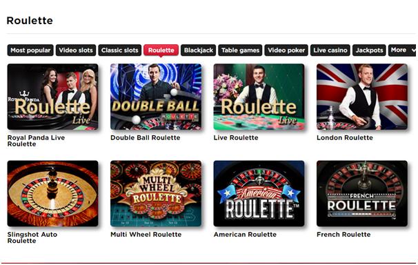 Royal Panda Casino Canada- Roulette