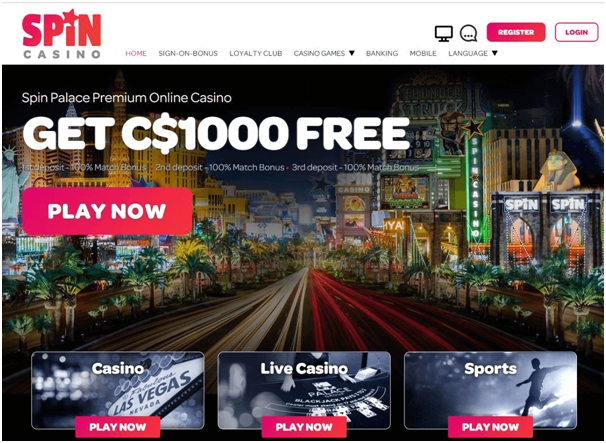 Spin Casino promotions in CAD