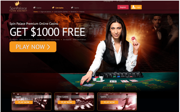 Spin Palace Casino Live Games
