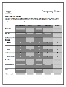 Salary Comparison Chart Template