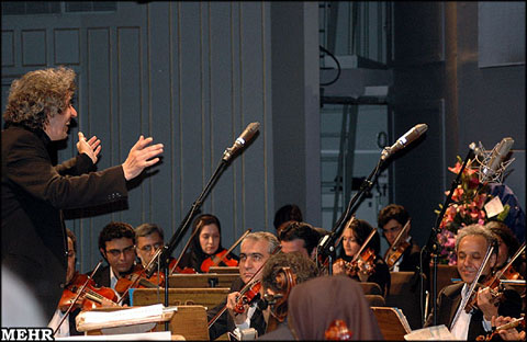 Tehran symphony orchestra (image courtesy of www.payvand.com)