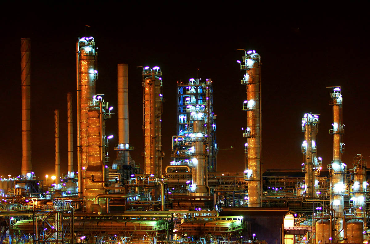 A gas refinery at the South Pars gas field