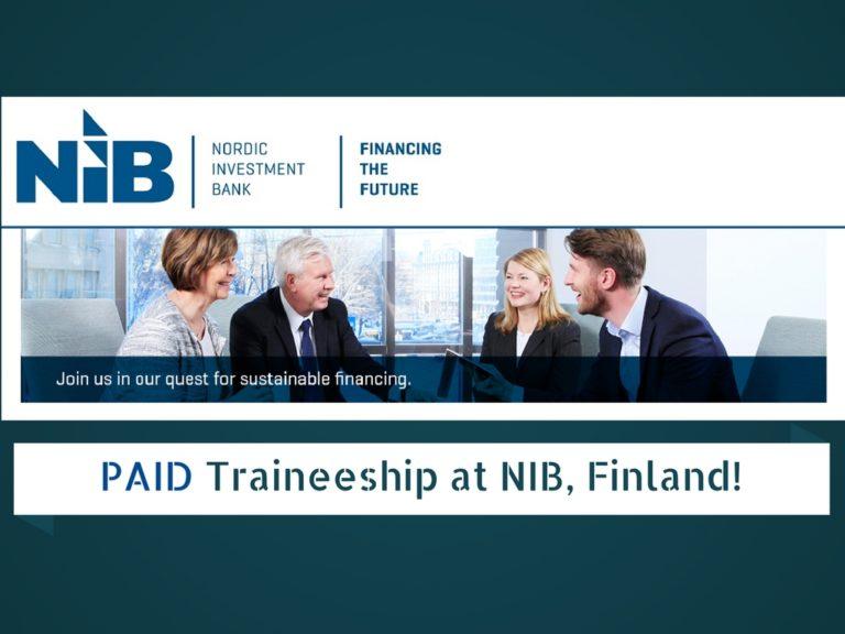 """Résultat de recherche d'images pour """"Paid Traineeship at Nordic Investment Bank (NIB) in Finland"""""""