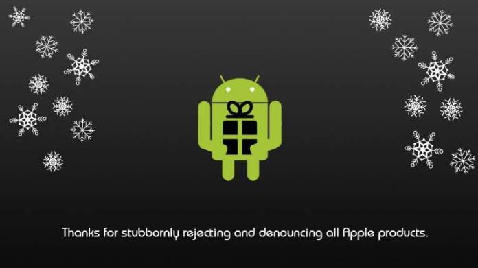 Android Yılbaşı Kartı