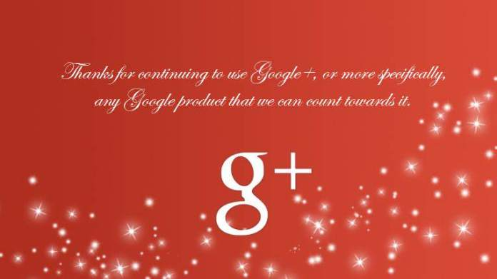 GooglePlus Yılbaşı Kartı