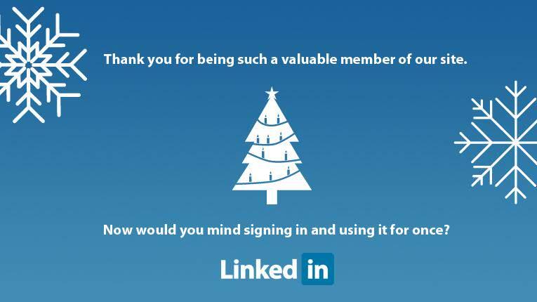 Linkedin Yılbaşı Kartı