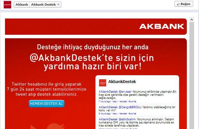 akbank destek