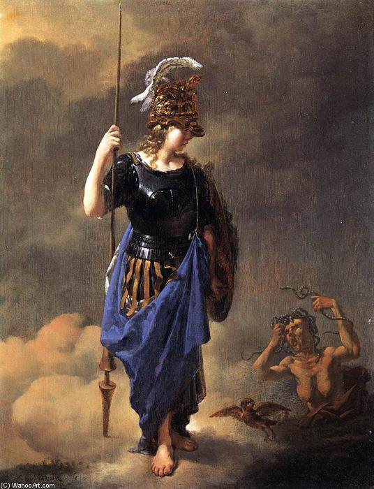 Karel-Dujardin-Pallas-Athene-Visits-Invidia-2-