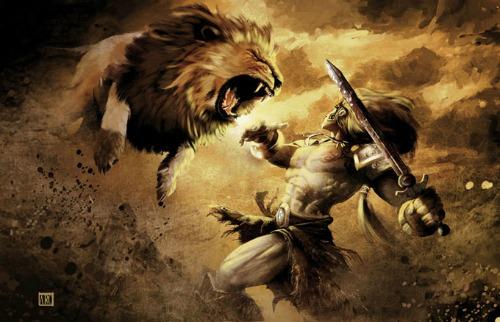 Primer Trabajo de Heracles: León de Nemea