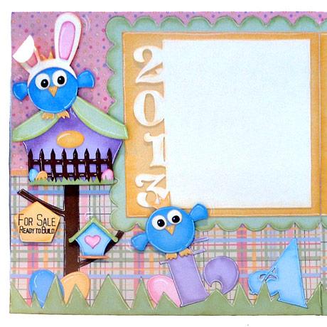 Birds In Bunny Ears Easter Scrapbook Layout Pazzles Craft Room