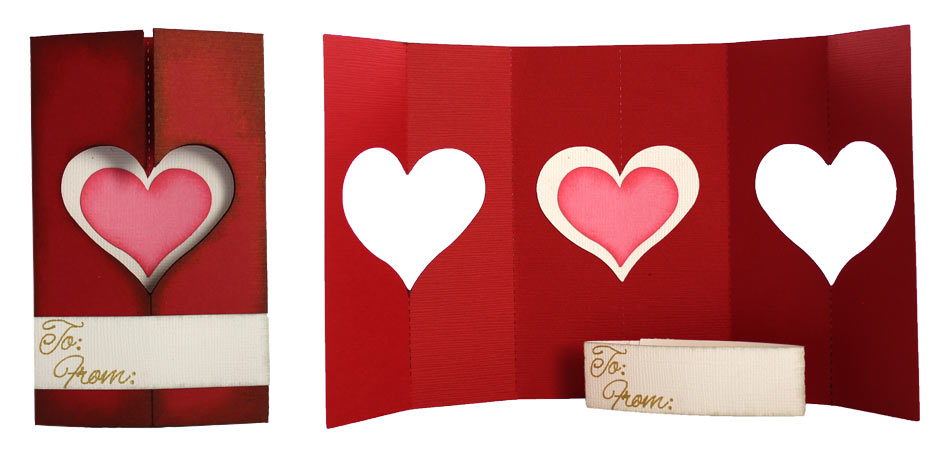 Folded Heart Card Pazzles Craft Room