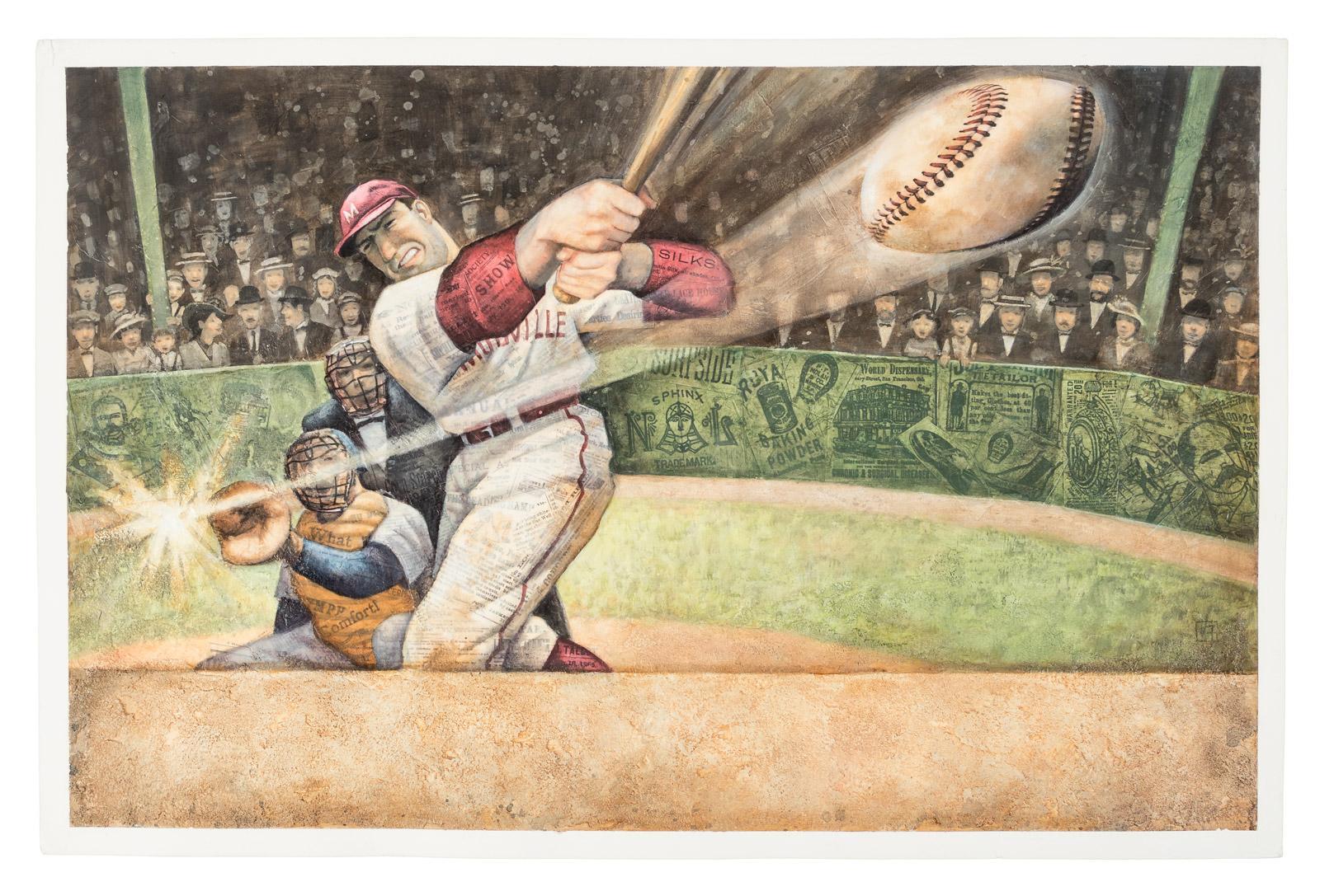 Original Multimedia Work For Cover Of Casey Back At Bat