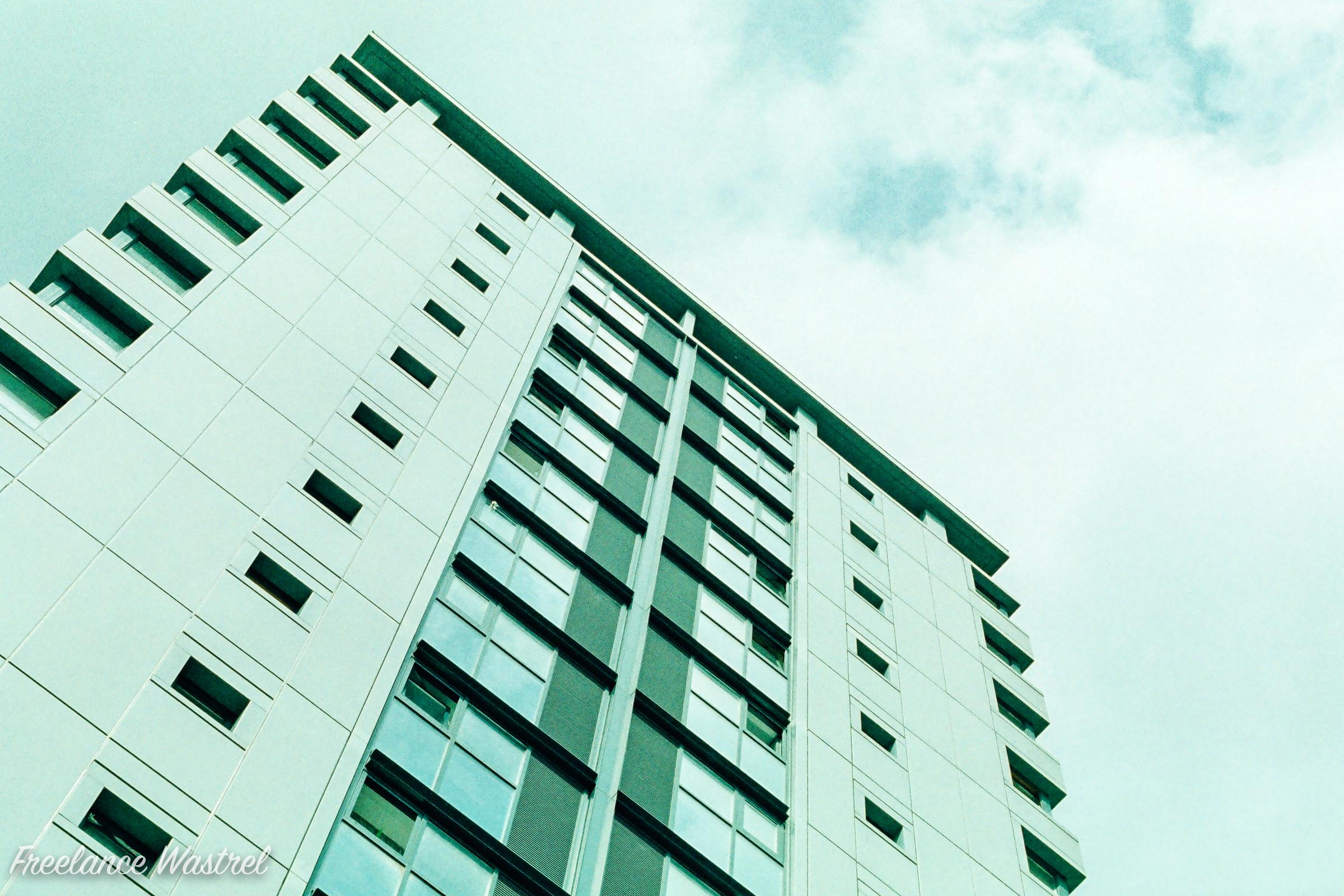 High rise, Sheffield, August 2017
